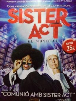 Propaganda de Sister Act em Barcelona.