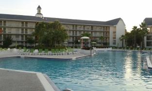 A piscina.